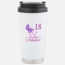 Fabulous 18th Birthday For Girls Travel Mug