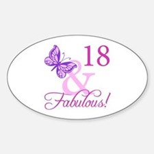 Fabulous 18th Birthday For Girls Decal