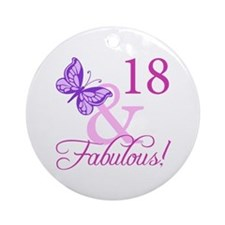 Fabulous 18th Birthday For Girls Ornament (Round)