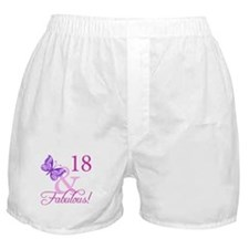 Fabulous 18th Birthday For Girls Boxer Shorts