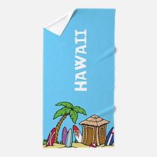 Hawaii or custom text Beach Towel