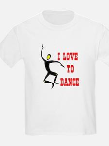 LOVE TO DANCE Kids T-Shirt