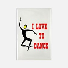LOVE TO DANCE Rectangle Magnet (10 pack)