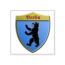 Berlin Germany Metallic Shield Sticker
