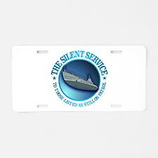 Silent Service Aluminum License Plate