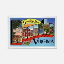 Roanoke Virginia Greetings Rectangle Magnet