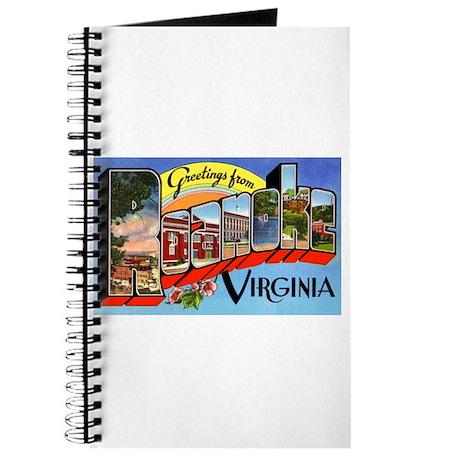 Roanoke Virginia Greetings Journal