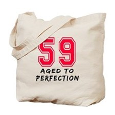 59 Year birthday designs Tote Bag