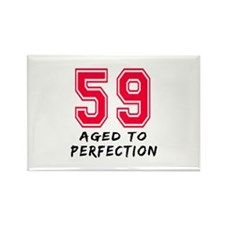 59 Year birthday designs Rectangle Magnet