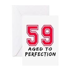 59 Year birthday designs Greeting Card