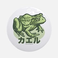 I Like the Frog Japanese Ornament (Round)