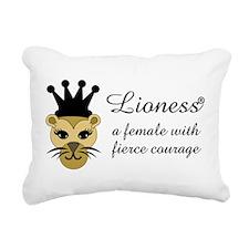 Cool Lioness Rectangular Canvas Pillow