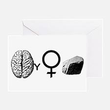 Brainy Girls Rock! Greeting Card