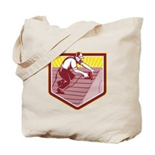 Roofer Roofing Worker Retro Tote Bag