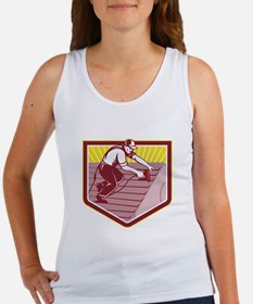 Roofer Roofing Worker Retro Tank Top
