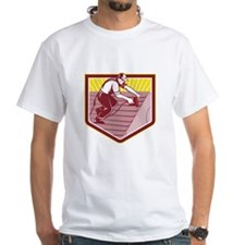 Roofer Roofing Worker Retro T-Shirt