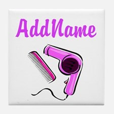 BEST HAIR STYLIST Tile Coaster