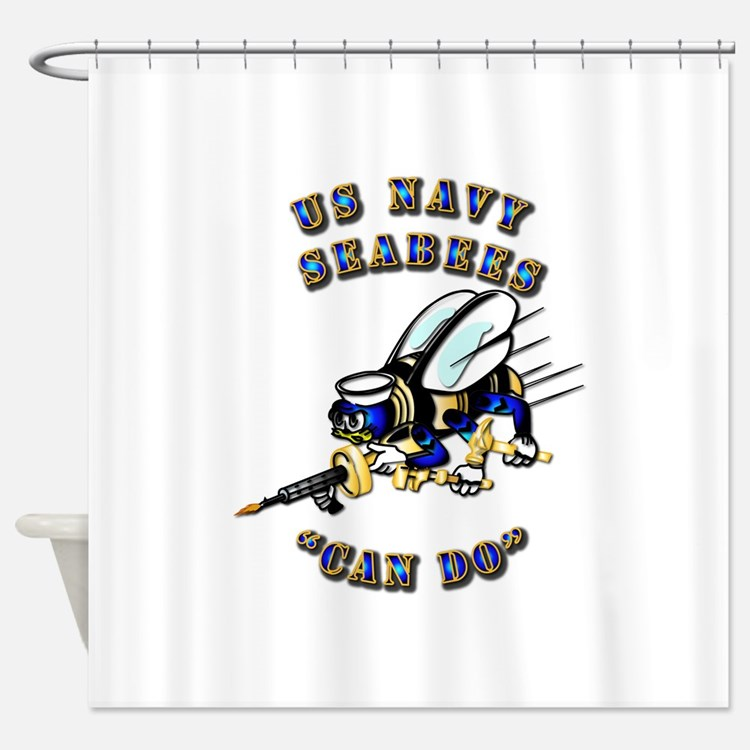 US Navy - SeaBees - Can Do Shower Curtain