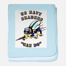 US Navy - SeaBees - Can Do baby blanket