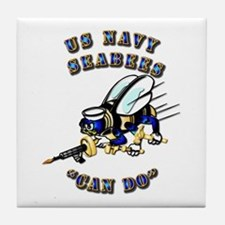 US Navy - SeaBees - Can Do Tile Coaster