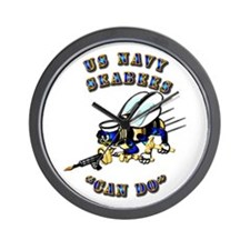 US Navy - SeaBees - Can Do Wall Clock