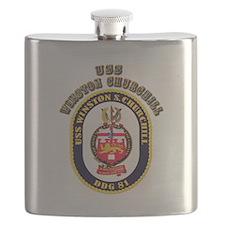 USS Winston Churchill - Crest Flask