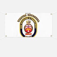 USS Winston Churchill - Crest Banner