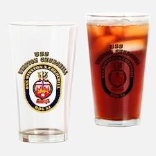USS Winston Churchill - Crest Drinking Glass