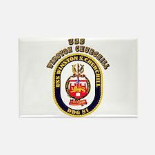 USS Winston Churchill - Crest Rectangle Magnet