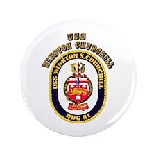 """USS Winston Churchill - Crest 3.5"""" Button (100 pac"""