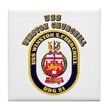 USS Winston Churchill - Crest Tile Coaster