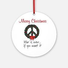 Christmas Peace Wreath Ornament (Round)
