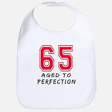 65 Year birthday designs Bib
