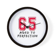 65 Year birthday designs Wall Clock