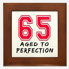 65 Year birthday designs Framed Tile