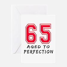 65 Year birthday designs Greeting Card