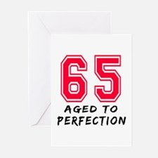 65 Year birthday designs Greeting Cards (Pk of 20)