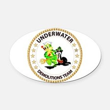SOF - Underwater Demolitions Team Oval Car Magnet