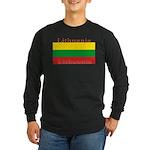 Lithuania Lithuanian Flag Long Sleeve Black Shirt