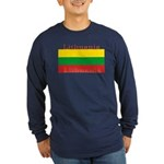 Lithuania Lithuanian Flag Long Sleeve Blue Shirt