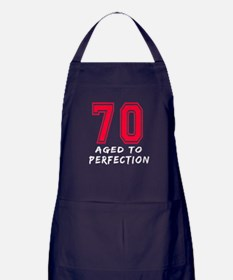 70 Year birthday designs Apron (dark)