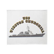 USS Winston Churchill - Ship Throw Blanket