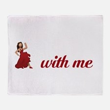 Dance With Me Emoji Throw Blanket