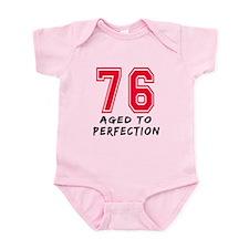 76 Year birthday designs Infant Bodysuit