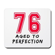 76 Year birthday designs Mousepad