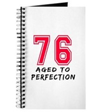 76 Year birthday designs Journal