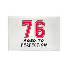 76 Year birthday designs Rectangle Magnet