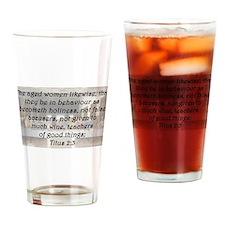Titus 2:3 Drinking Glass