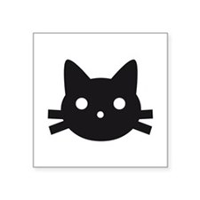 Black cat face design Sticker