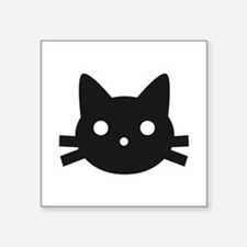 Black cat face design Sticker